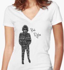 Bob Dylan Women's Fitted V-Neck T-Shirt