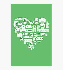 Controller Love (White on Green) Photographic Print