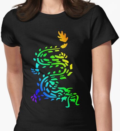 Oriental Dragon Colourful Design T-Shirt