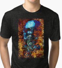 Skull and Flowers Tri-blend T-Shirt