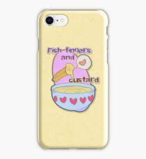 Fish fingers and custard iPhone Case/Skin