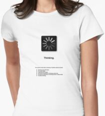 Thinking (with text) Women's Fitted T-Shirt