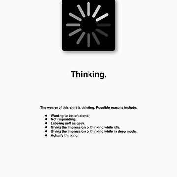 Thinking (with text) by ubiquitoid