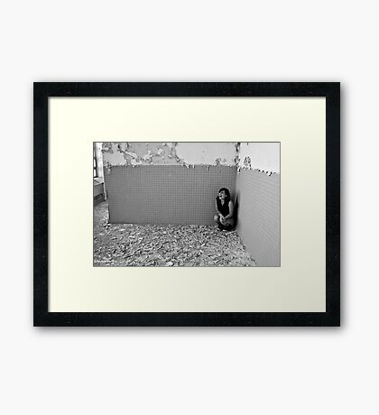 The Past Screams Out of Me in These Places!! Framed Print