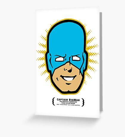 Captain RibMan - Face Greeting Card