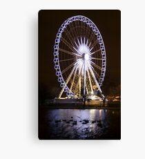 Winter Wonderland Ferris Wheel Canvas Print