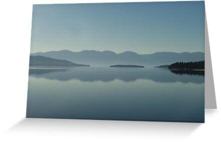 MAGIC MORNING ON FLATHEAD LAKE, MT by May Lattanzio