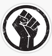BLACK POWER RAISED FIST Sticker