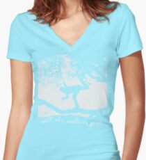Tom Waits - All the World is Green Women's Fitted V-Neck T-Shirt