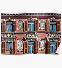 Windows in Maribor. Poster