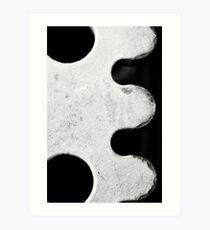 """Black & White """"E"""" Art Print"""