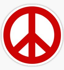 Peace - red. Sticker