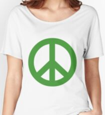 Peace - green. Women's Relaxed Fit T-Shirt