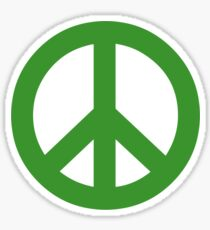 Peace - green. Sticker