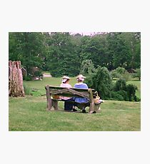 Re-enactors ar Ringwood Manor - Colonial women resting and chatting Photographic Print