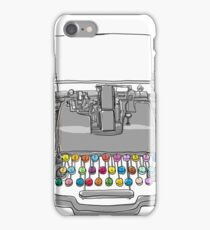 old Typewriter cute art iPhone Case/Skin
