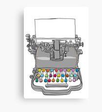 old Typewriter cute art Canvas Print