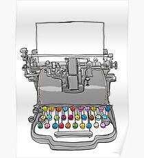 old Typewriter cute art Poster