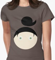Black Hair Green Eyed Girl Womens Fitted T-Shirt
