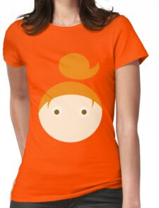 Red Hair Brown Eyed Girl Womens Fitted T-Shirt