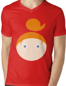 Red Hair Blue Eyed Girl Mens V-Neck T-Shirt
