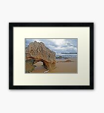Beachport Limestone Arch  Framed Print