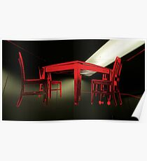 Chairs & table rising Poster