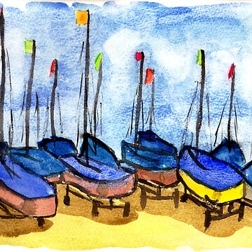 Boats at Looe Harbour by GCooles