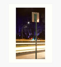 St Kilda Road Purple Trees Art Print