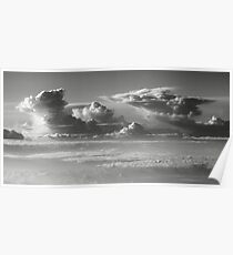 Thunderheads over a sea of clouds  Poster