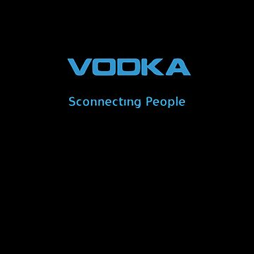 Vodka - Sconnecting People iPhone Black cover by Reinheit