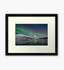 Aurora Borealis at Kattfjord Framed Print
