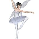 Snowflake Fairy Ballerina by algoldesigns