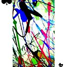 American Expressionism- 4 of Spades by Peter Simpson