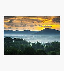 Asheville NC Blue Ridge Mountains Sunset - Welcome to Asheville Photographic Print