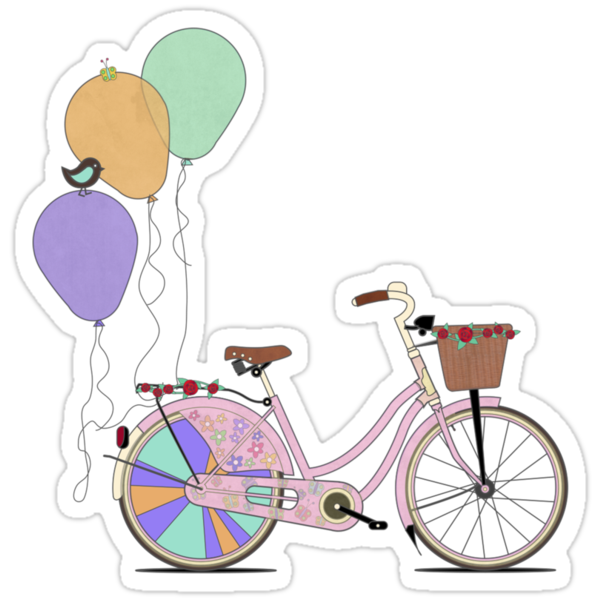 Love to Cycle on my Pink Bike by Andy Scullion