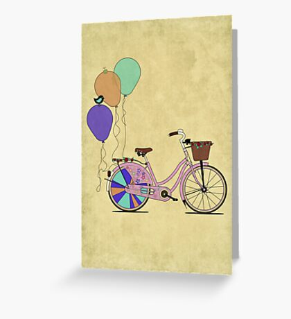 Love to Cycle on my Pink Bike Greeting Card
