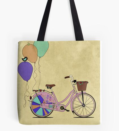 Love to Cycle on my Pink Bike Tote Bag