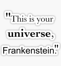 Frankenstein's Universe Sticker
