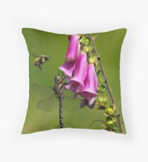 Bee-ware the Dragon Throw Pillow