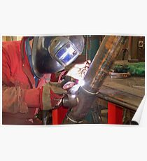 """Me Tig welding 3"""" pipe. Poster"""