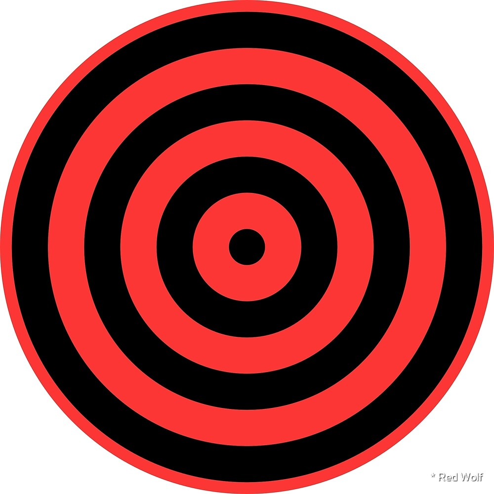Geometric Pattern: Rondel: Black Red by * Red Wolf