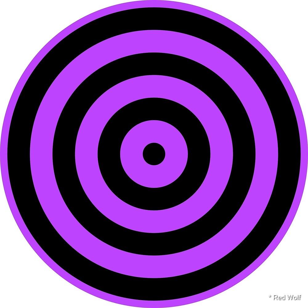 Geometric Pattern: Rondel: Black Purple by * Red Wolf