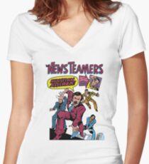 News Team Assemble! Women's Fitted V-Neck T-Shirt