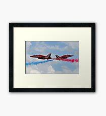 RAF Red Arrows Cross Framed Print