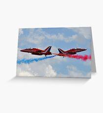 RAF Red Arrows Cross Greeting Card