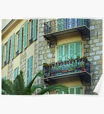 Shutters And Balconies Poster