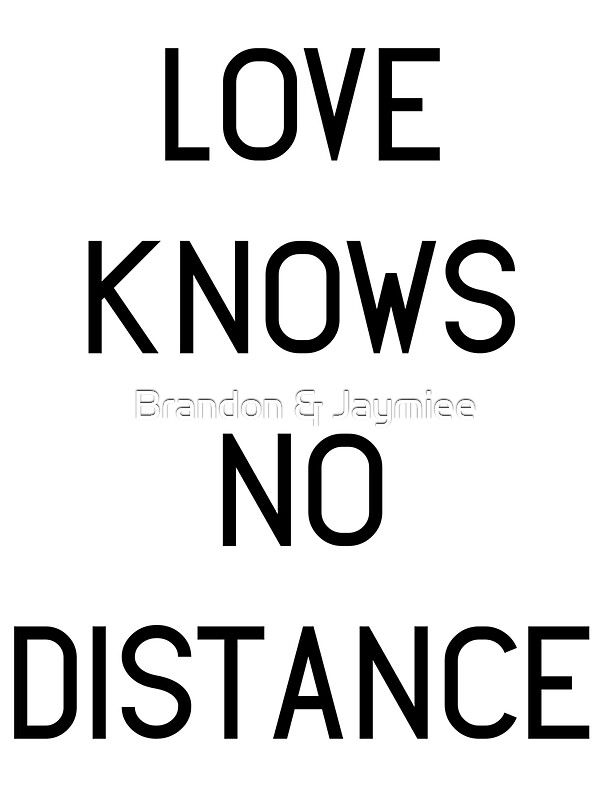 """""""Love Knows No Distance"""" Stickers by schembri211 