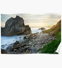 Corona Del Mar Sunset Pseudo Poster