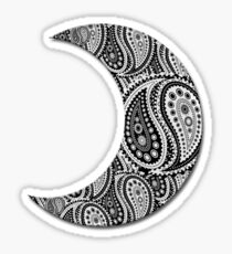 Paisley Yin Yang Moon Sticker